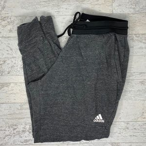 Adidas Women's Grey  Zipped Ankle Sweatpants